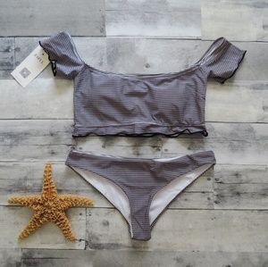 Black/White Plaid bikini